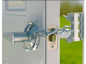 2 Pack Prime-Line U 9852 Chain Door Guard Steel Construction White 3-5//16 in