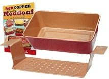 Red Copper Meatloaf Pan