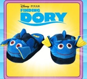 Stompeez Animated Dory Plush Slippers Fins Flap and Flutter as You Walk Ultra Soft and Fuzzy
