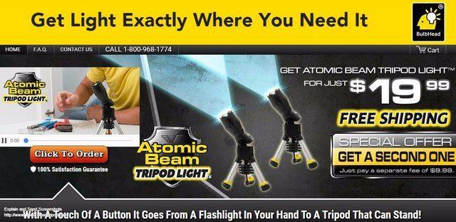 Atomic Beam Tripod Light Reviews Too Good To Be True