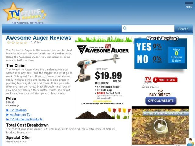 Awesome Auger Reviews Too Good To Be True