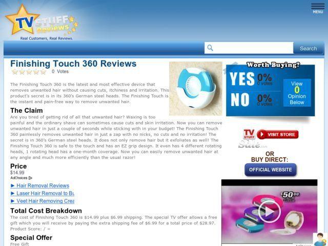 acquista finishing touch epilator reviews