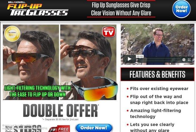 Flip-Up Tac Glasses