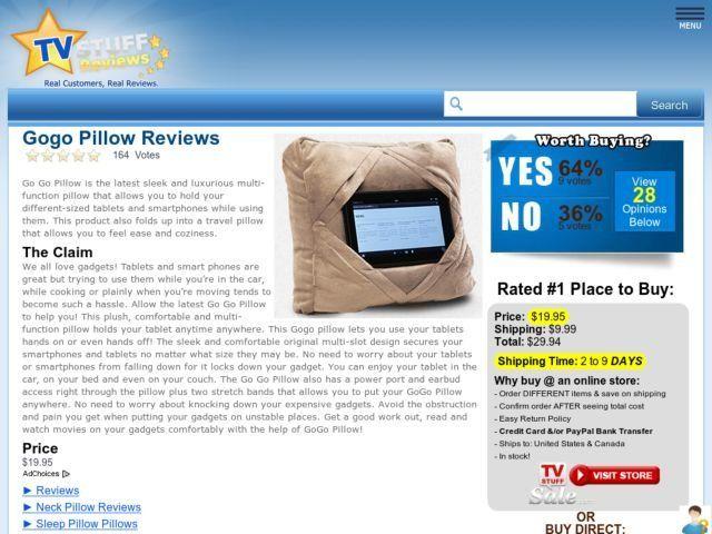 Gogo Pillow Reviews Too Good To Be True