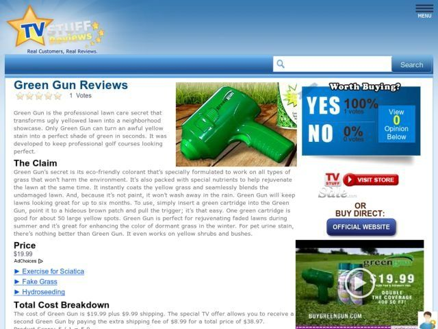 Green Gun Reviews Too Good To Be True