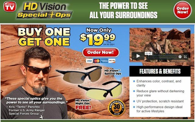 b8fe2366174 HD Vision Special Ops Glasses Reviews - Too Good to be True