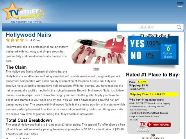 Hollywood nails reviews too good to be true tv commercial prinsesfo Gallery