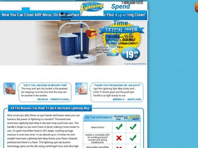 Lightning Spin Mop Reviews - Too Good to be True?