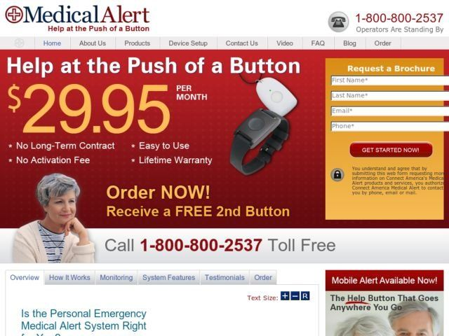 Connect America, Medical Alert and/or Alarm Company specializes in Personal Emergency Response Services (PERS). Connect America is a nationwide company, with its corporate headquarters located just outside of Philadelphia, Pennsylvania.