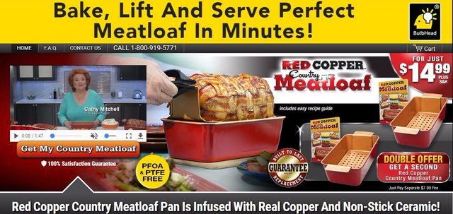 Red Copper Meatloaf Pan Reviews Too Good To Be True
