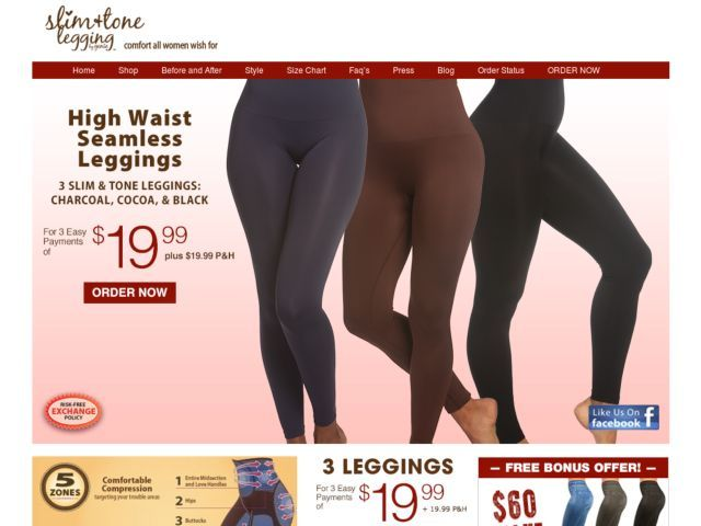 Genie slim and tone leggings reviews