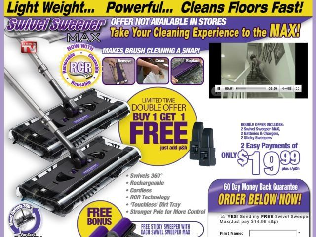 Swivel Sweeper Max Reviews Too Good To Be True
