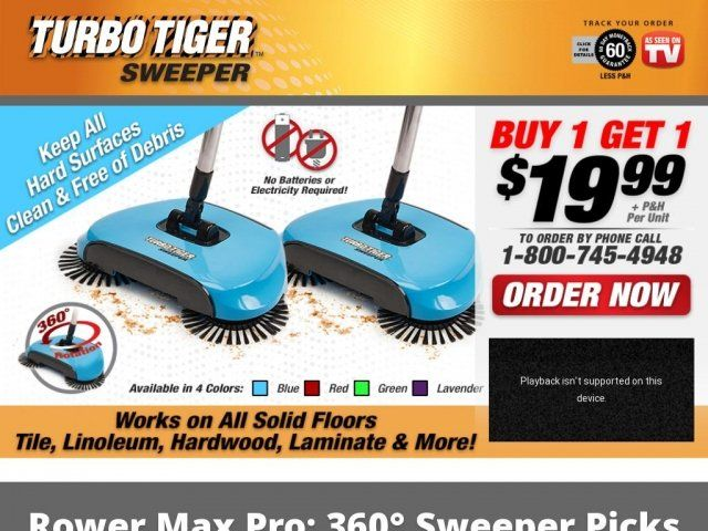 Turbo Tiger Sweeper Reviews Too Good To Be True