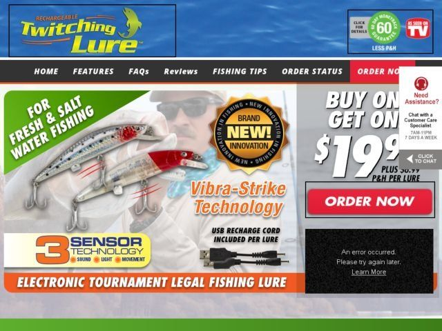 Twitching lure reviews every cast bull it for Fishing lure as seen on tv